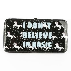 I Don't Believe in Basic Unicorn Case Wallet